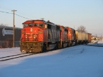 CN 5553 leading 9543 & IC 1039 out of the yard with their pickup