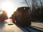 UP 9545 & CN 5747 coming out of the sunrise