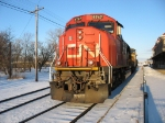 CN 5747 & UP 9545 rolling towards the yard