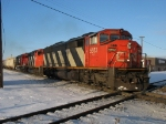CN 5553, 9543 & IC 1039 resuming their eastbound journey