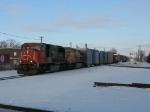 CN 5747 & UP 9545 pulling out of the yard