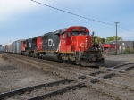 CN 5374 & 5669 about to hammer across the diamond