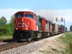 CN 5719 leading M397 into the double track