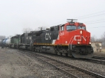 M399 is finally underway again behind CN 2604, IC 6060 & BNSF 7837