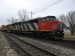 CN 5407 leading E281 with UP 3799 & WC 3007