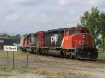 CN 5340 & IC 6107 pulling out of the yard with A457's pick up
