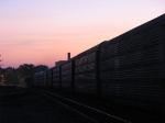 UP 5332 & 2082 heading west at dusk