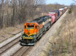 BNSF 8017 & 9599 pulling C767 west with general freight on the head end
