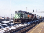 BNSF SD40-2 #7846 leader on CN eastbound freight