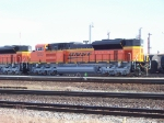 new BNSF SD70ACe #9372 sitis in the CN yard