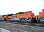 new BNSF SD70ACe #9376 heads west in deleivery on CN