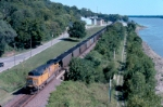 UP 5997 as DPU trails more loaded coal along the Mississippi River