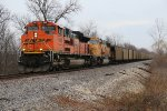 BNSF 9140 Leads a empty coal train up the K line.