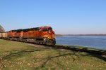 BNSF 6343 Drags a coal load down the Hannibal Sub.