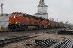 BNSF 6261 Hurries a empty coal ahead of a rain storm.