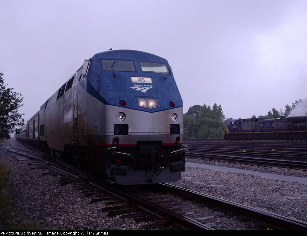 Amtrak 67 service from Boston to Virginia Beach in Newport News Yard