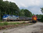 Amtrak passes Fort Eustis Military Railway
