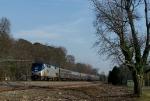 Boston bound Amtrak leaving Newport News