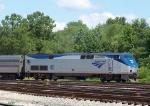 Amtrak 67 turning on the wye