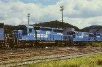 CR SD40-2 6416 and U25B 2588