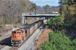 BNSF 9172 On NS 734 Southbound Just Outside The NS Yard
