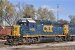 CSXT 4436 On CSX J 791 At New River Yard