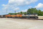 BNSF 8865  eases past the dpu's of a nb empty coal
