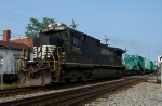 NS 8876 with a Sieman's car and caboose