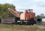 American crane working on the ex-N&W line