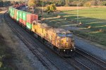 UP 7113 Drags a stack into the morning sun