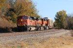 Coal power on a rack train... BNSF 9053 leads a V-BLUKCK