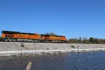 BNSF 4188 Leads a eastbound over the lake in Baring Mo.