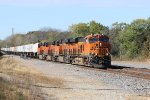 BNSF 7120 Leads another Z train out of Gorin Mo.