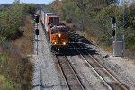 BNSF 8047 Tops the hill at Wyaconda Mo.