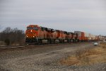 BNSF 7925 Leads a eastbound stack train.