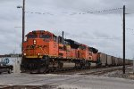 Elephant style ACes lead NB BNSF coal train