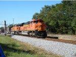 BNSF 9184 leads a Q34 thru Germantown