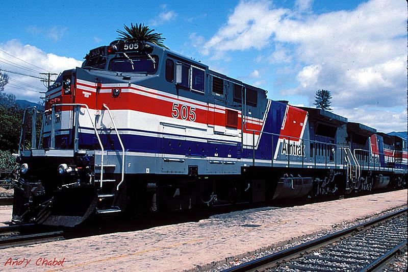 Amtrak 505 at Santa Barbara