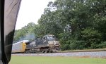 NS 9584 leads a eastbound rack train at MP 539
