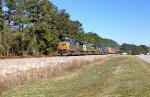 CSX ES44AC-H 844, C40-8W's 7345 and 7605, SD70AC 4732, and C40-8 7620