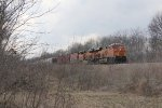 BNSF 7004 & 6560 head east for Galesburg