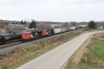 CN 3026 & 3031 roll north on the mainline with M349