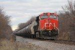 CN 2885 heads away as U760 picks up speed heading south