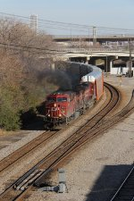 8514 belches as 199 picks up speed heading west