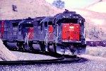 SSW 7630 leading friegt through Tehachapi Pass
