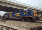 CSX GP40-2 6965 and mate 2365