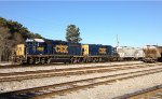 CSX GP40-2 6965 and mate 2365 take a breather from yard work