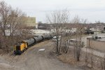 1503 shoves the cut of tanks for Cargill back across Indianapolis Blvd