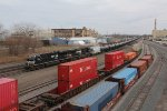 Empty oil train 67Z heads west for interchange with a western road