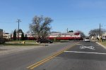 The SLRG equipment move to Janesville gets moving as it crosses Foster Ave